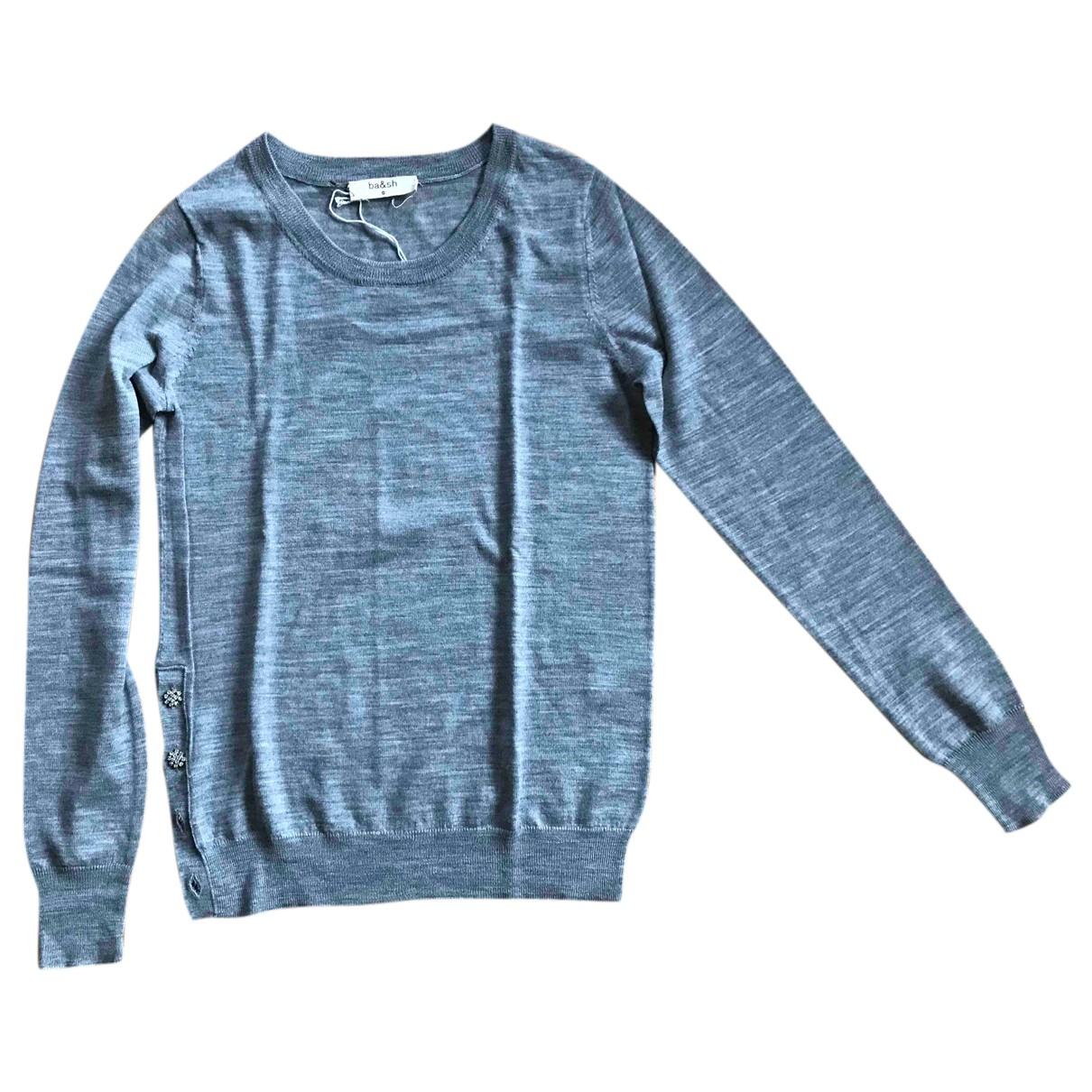 Ba&sh - Pull   pour femme en laine - gris