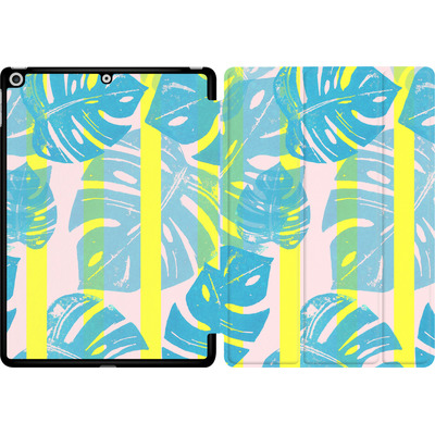 Apple iPad 9.7 (2018) Tablet Smart Case - Linocut Monstera Neon von Bianca Green