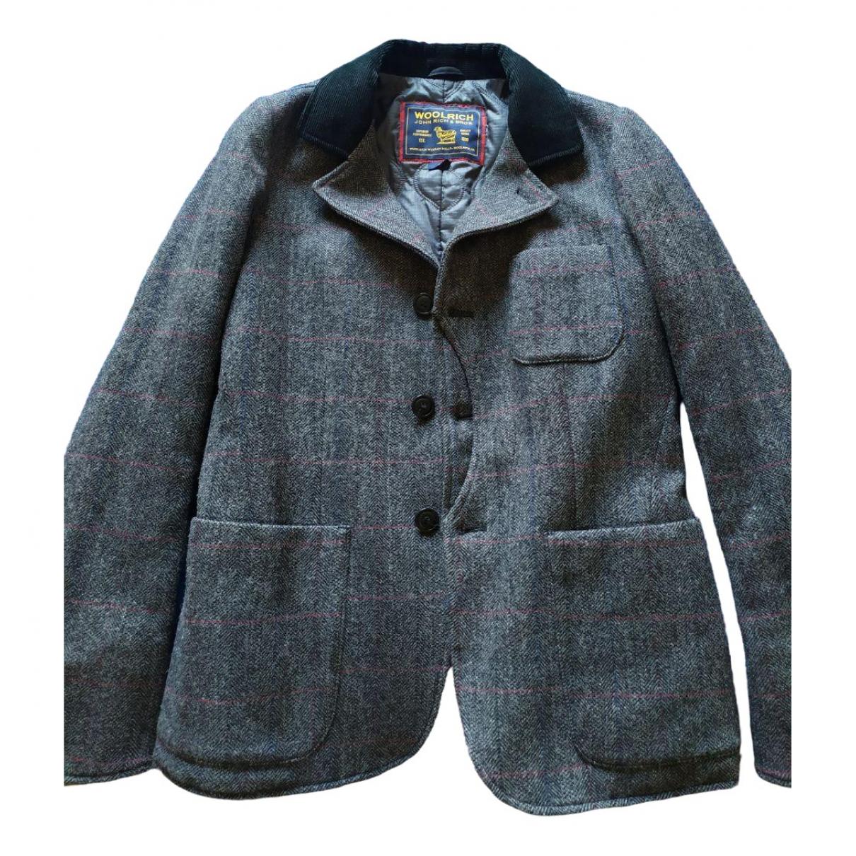 Woolrich \N Jacke in  Grau Wolle