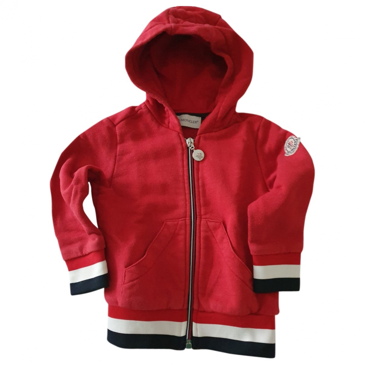Moncler \N Red Cotton Knitwear for Kids 2 years - up to 86cm FR