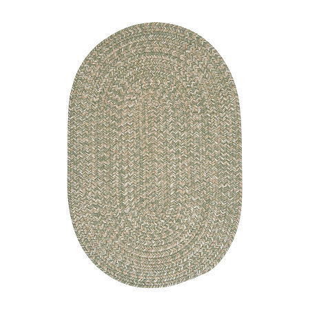 Colonial Mills American Tweed Braided Oval Reversible Indoor Rugs, One Size , Green