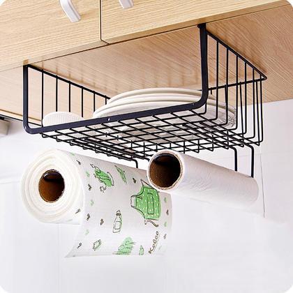 Utensil Rack Dish Storage Cupboard Hanger Wardrobe Iron Organizer Bathroom Kitchen - SortWise™