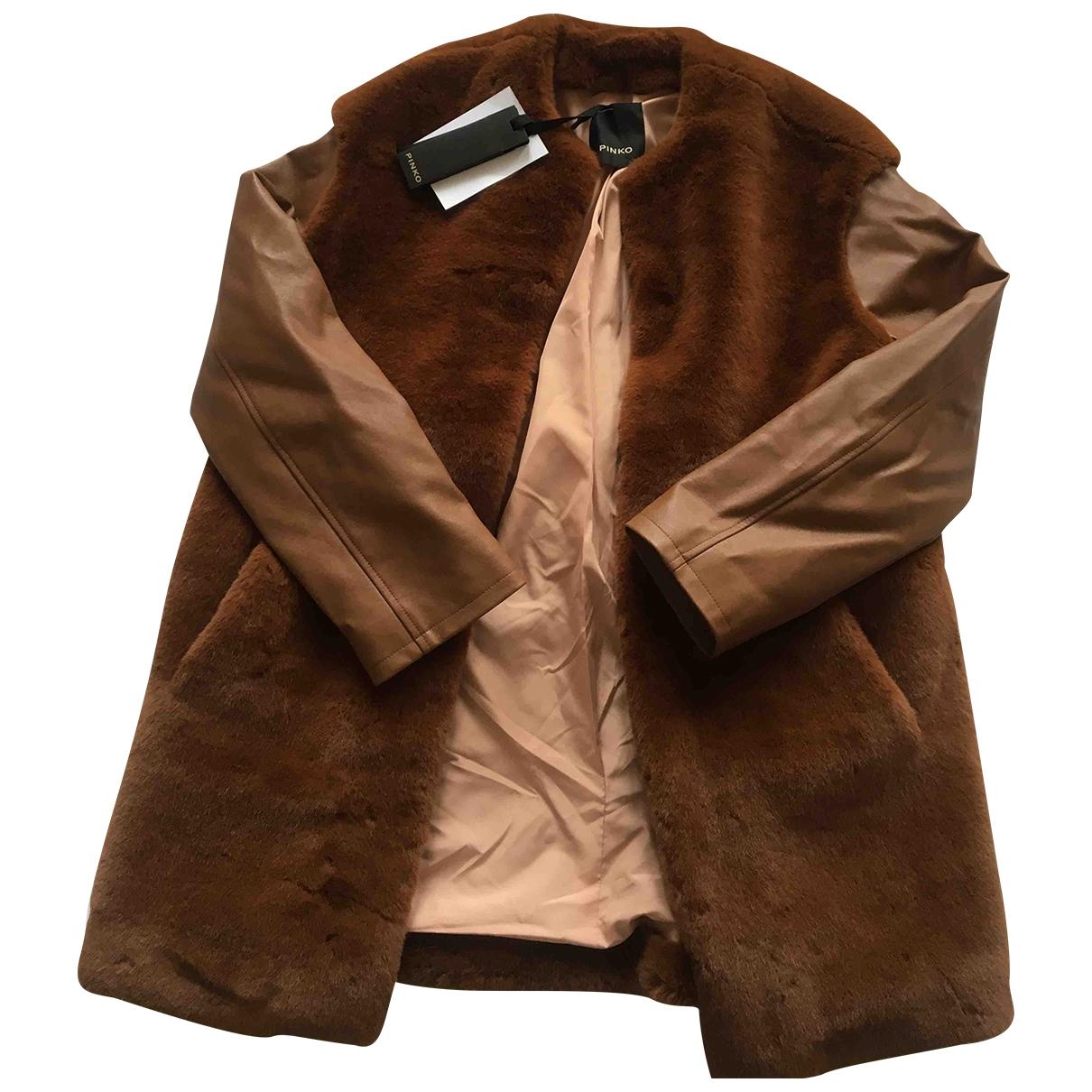 Pinko \N Brown Faux fur jacket for Women 40 IT