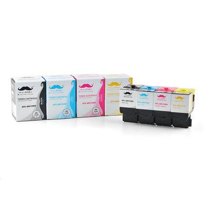 Compatible Lexmark 80C1H Toner Cartridge Combo High Yield BK/C/M/Y - Moustache@