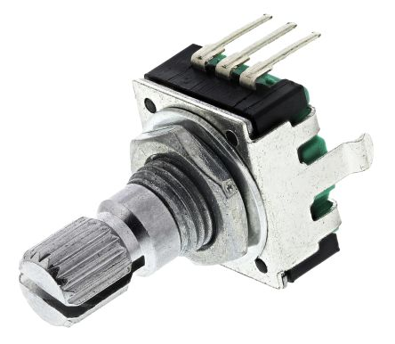 Bourns 24 Pulse Incremental Mechanical Rotary Encoder with a 6 mm Knurl Shaft (Indexed), Through Hole
