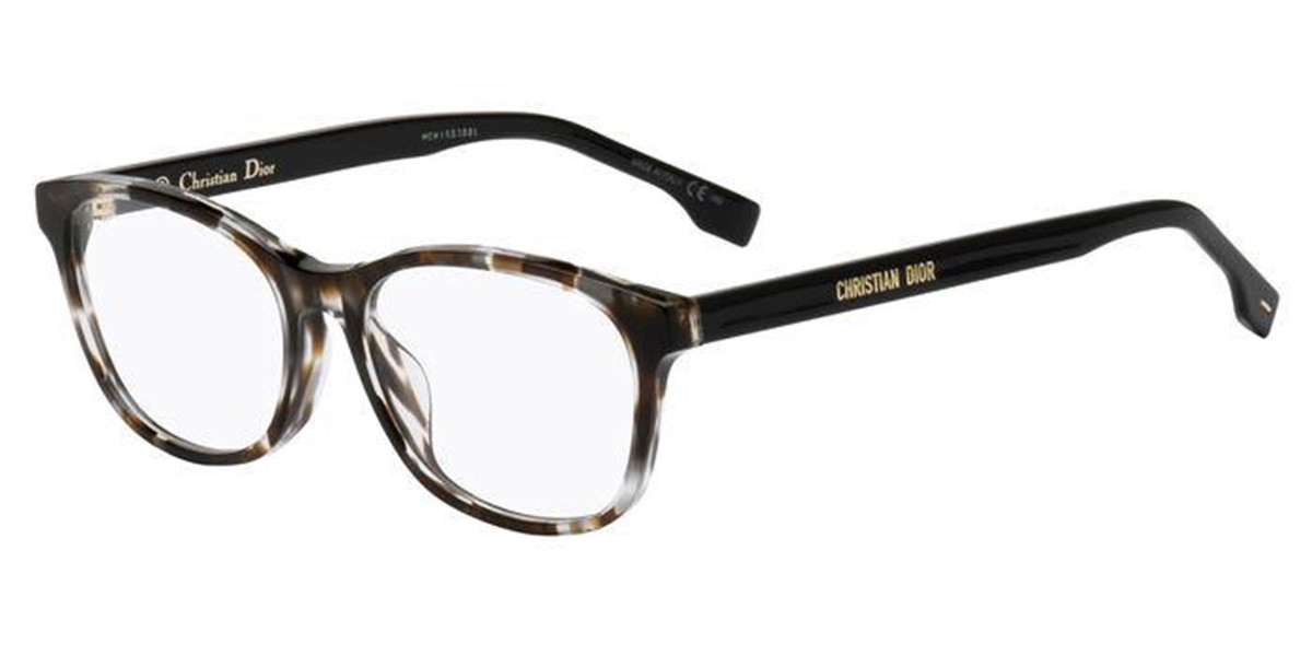 Dior DIOR ETOILE2F Asian Fit ACI Mens Glasses Tortoise Size 54 - Free Lenses - HSA/FSA Insurance - Blue Light Block Available