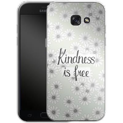 Samsung Galaxy A5 (2017) Silikon Handyhuelle - Kindness is Free von Barlena