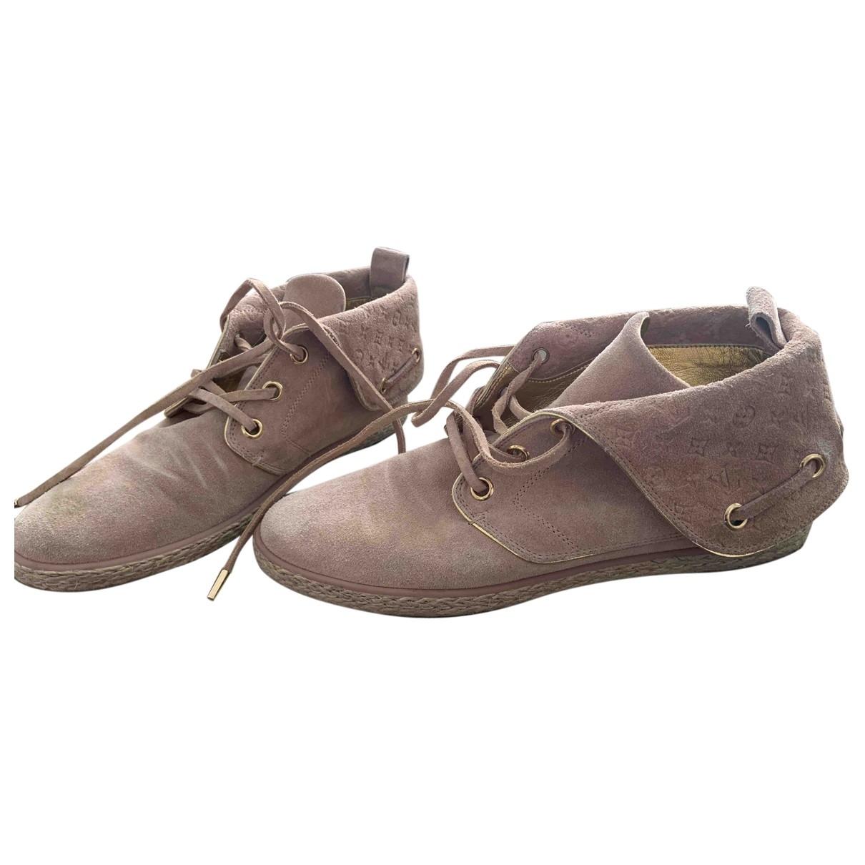 Louis Vuitton - Boots   pour femme en suede - beige