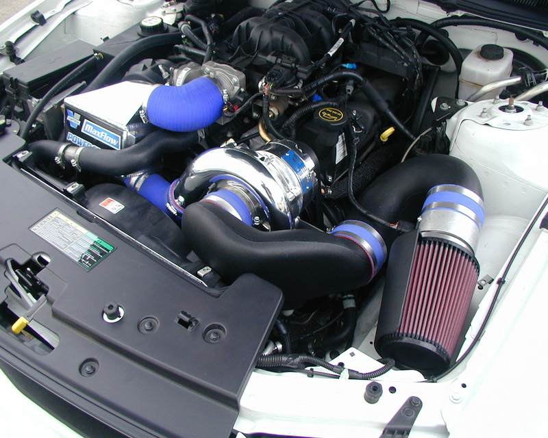 Vortech Satin H.O. Supercharger System w/ V-3 Si & Charge Cooler Ford Mustang 4.0 V6 05-06