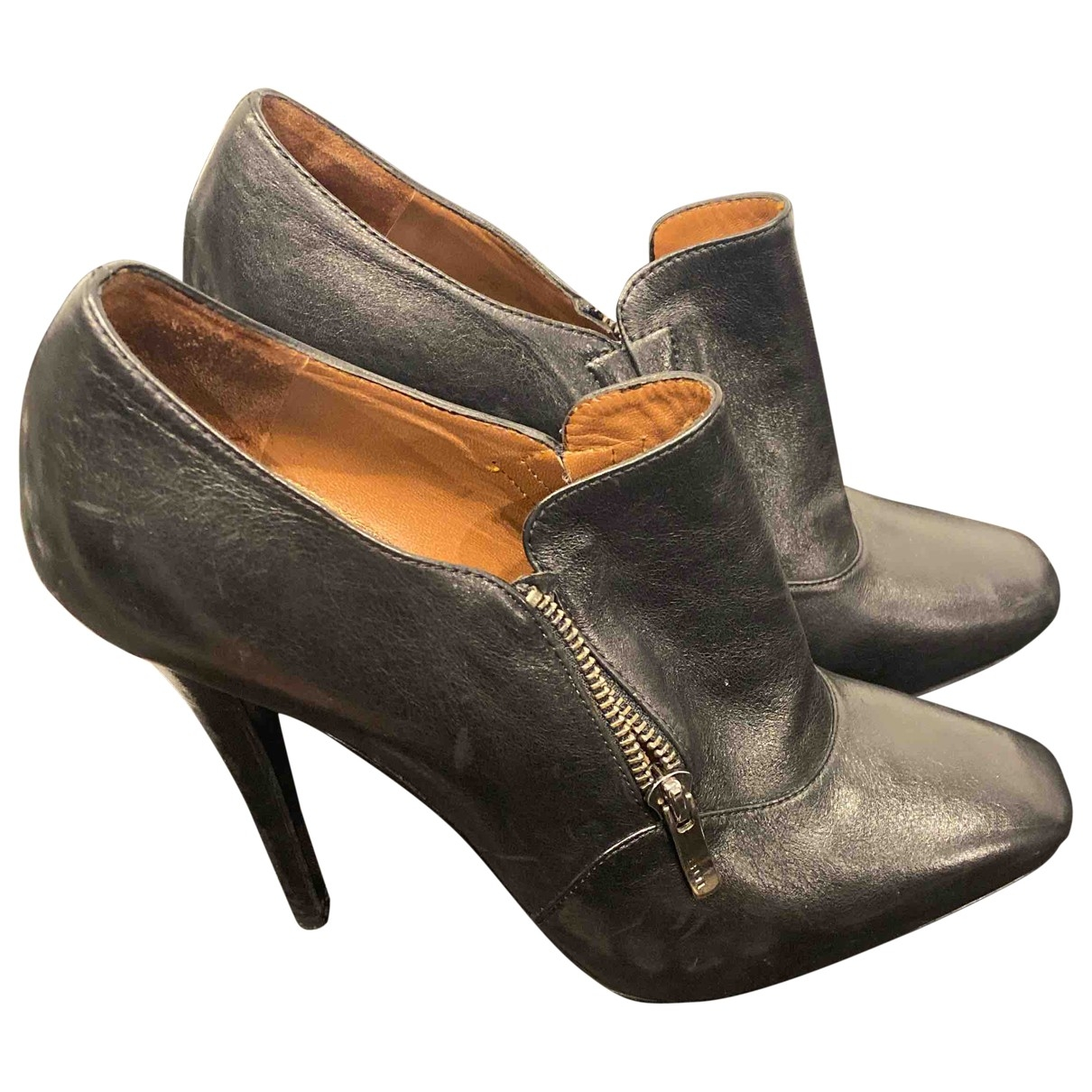 Barbara Bui \N Black Leather Ankle boots for Women 39.5 EU