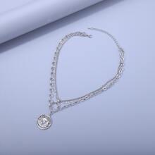Maenner Halskette mit Mond Dekor