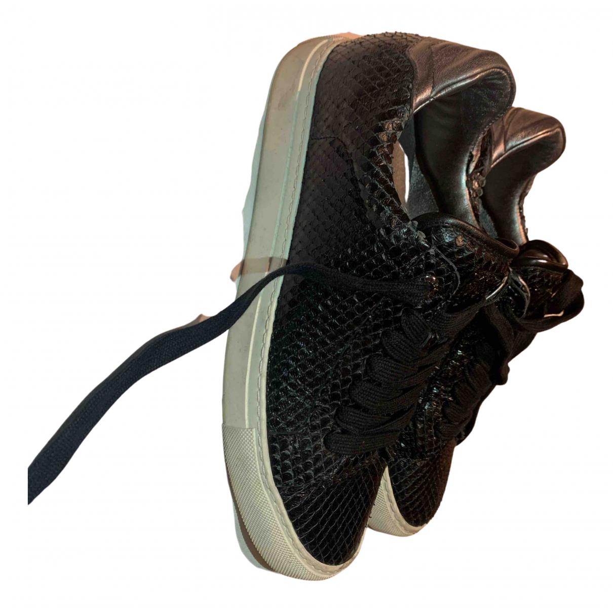 Zadig & Voltaire May Sneakers in  Schwarz Leder