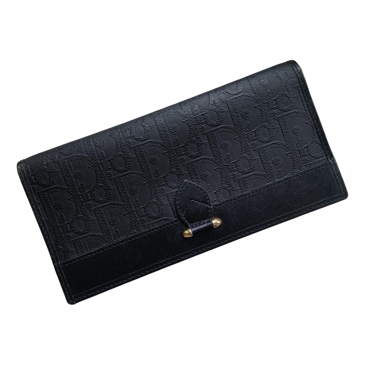 Dior N Black Leather wallet for Women N