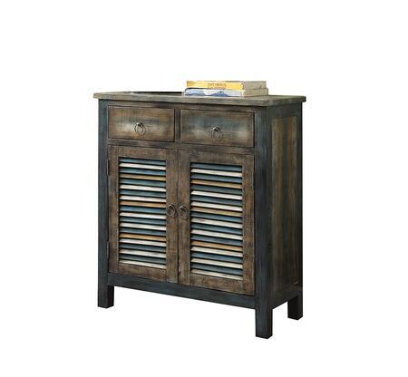 BM154266 Glancio Commodious Console Table  Antique Oak & Teal