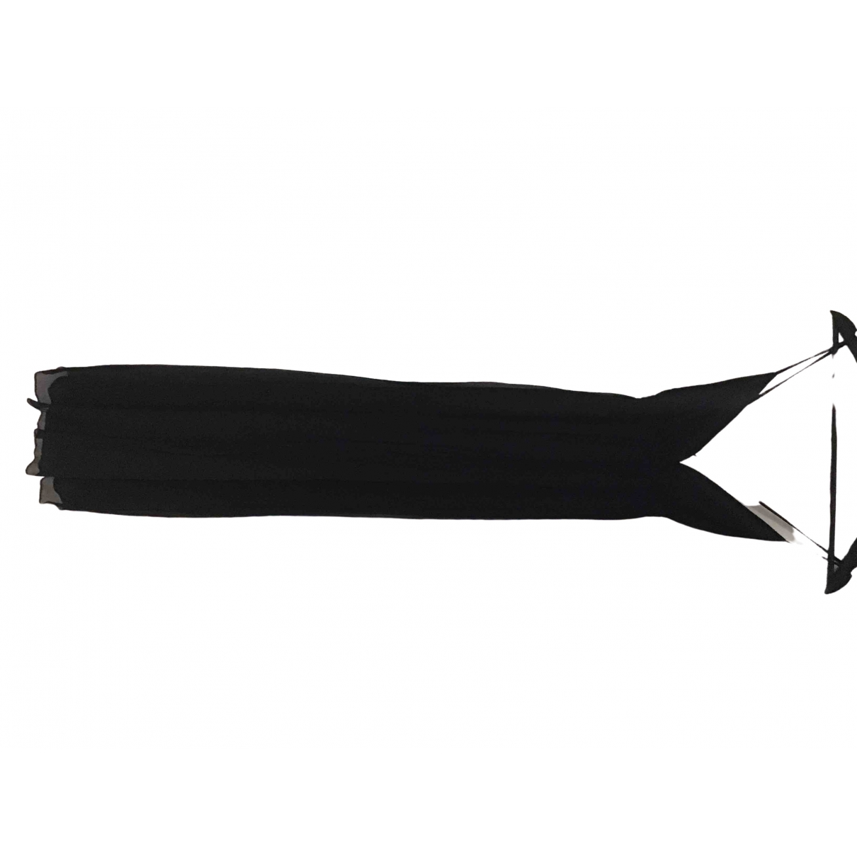 Les Petites - Robe   pour femme en soie - noir