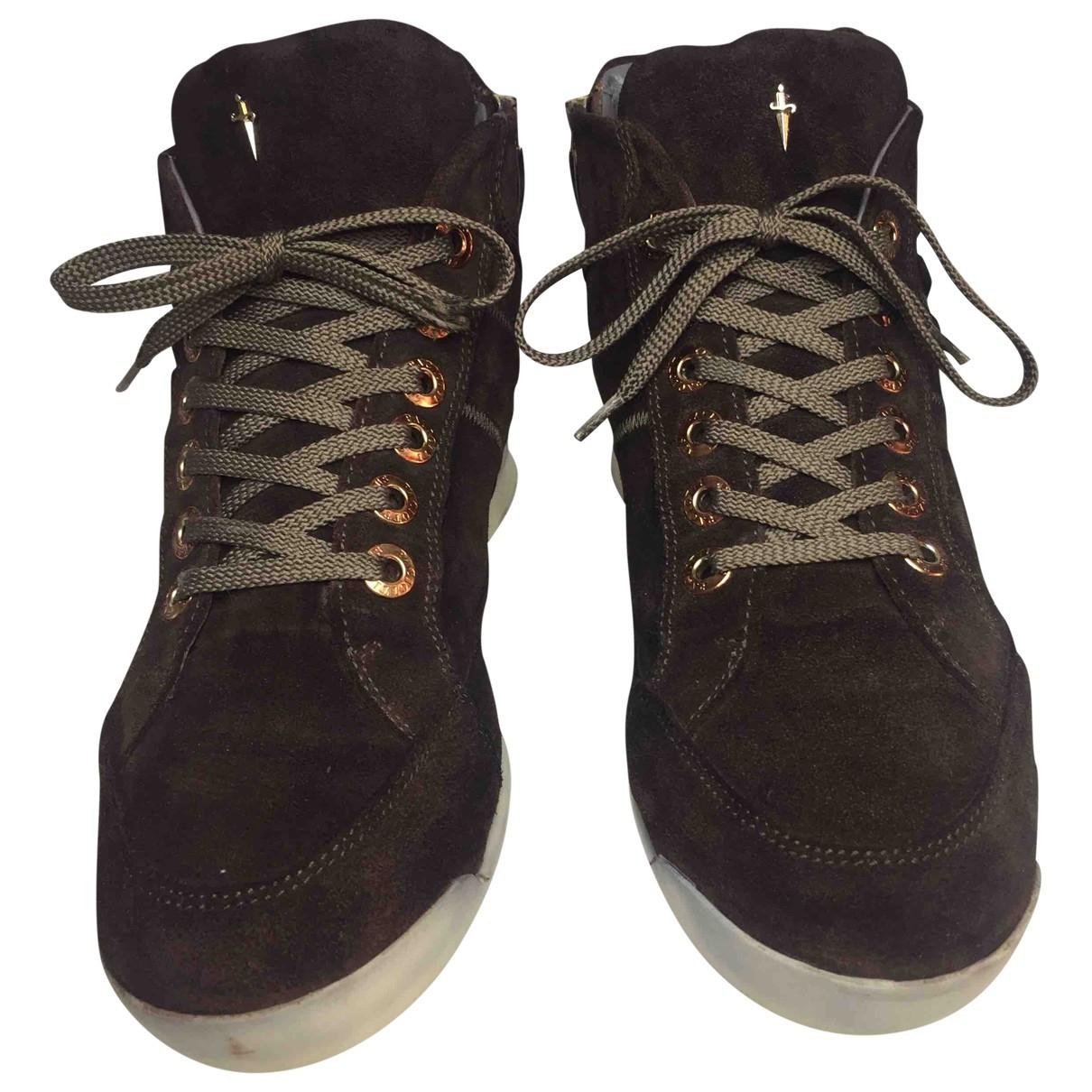 Cesare Paciotti \N Sneakers in  Braun Veloursleder