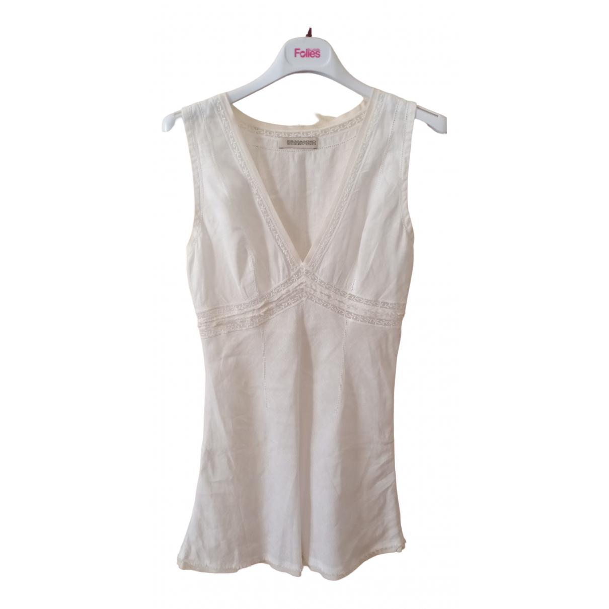 Ermanno Scervino \N White Linen  top for Women 40 IT
