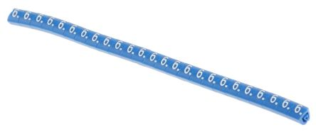 HellermannTyton Helagrip Slide On Cable Marker, Pre-printed 6 White on Blue 2 → 5mm Dia. Range