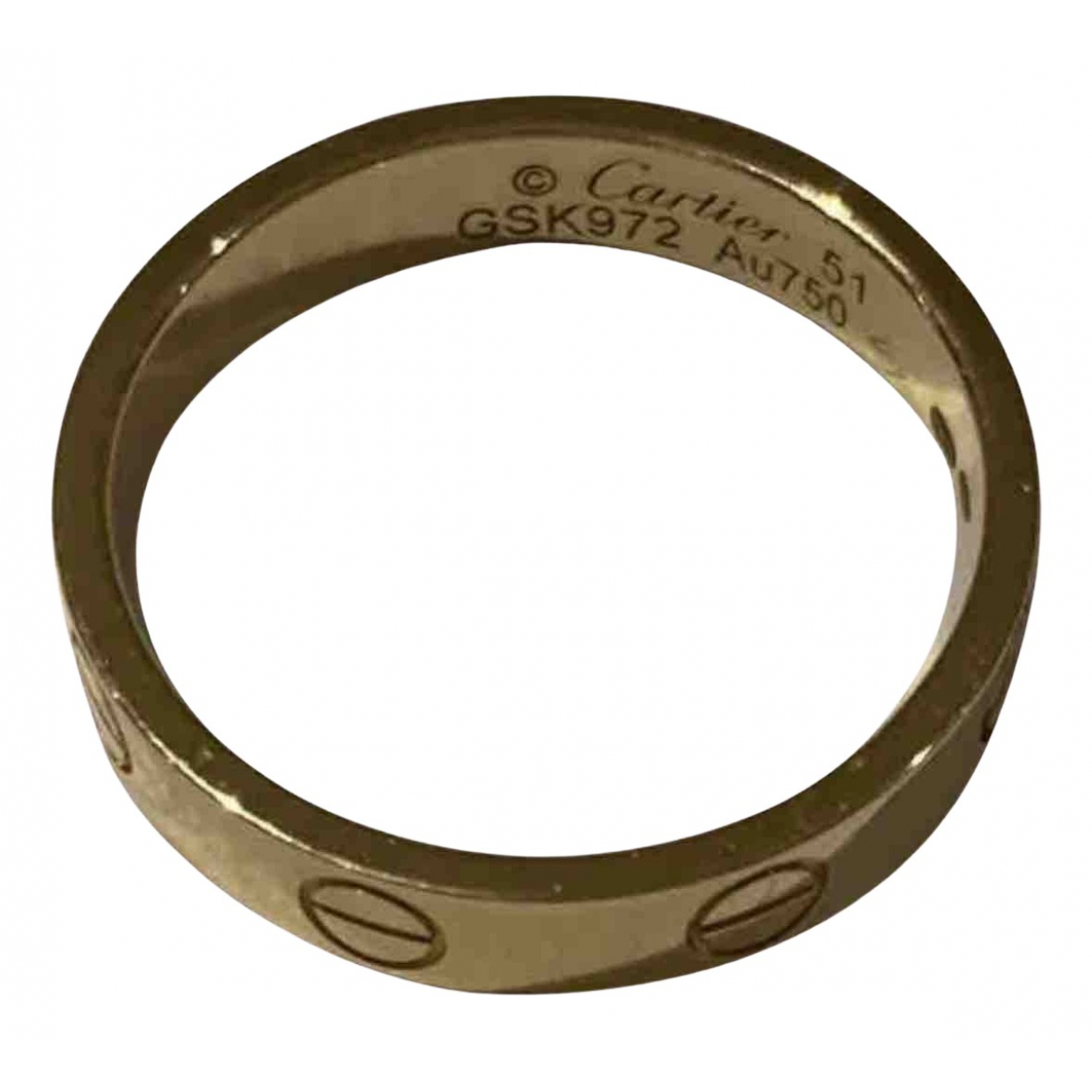 Cartier Love Ring in  Gelb Gelbgold