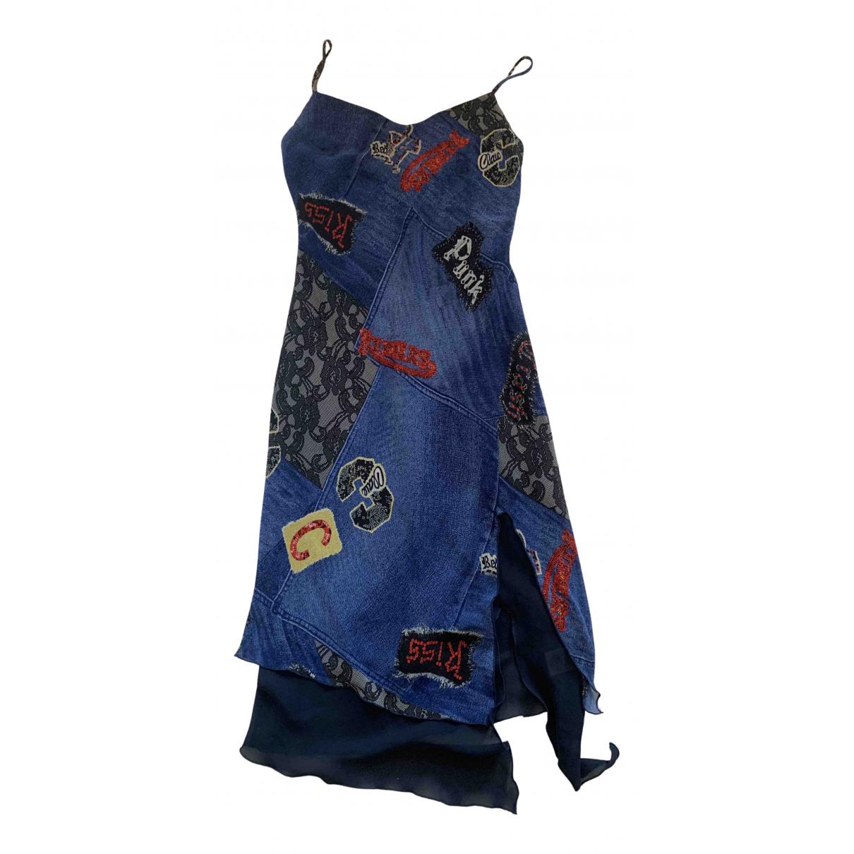 Versus \N Kleid in  Blau Polyester