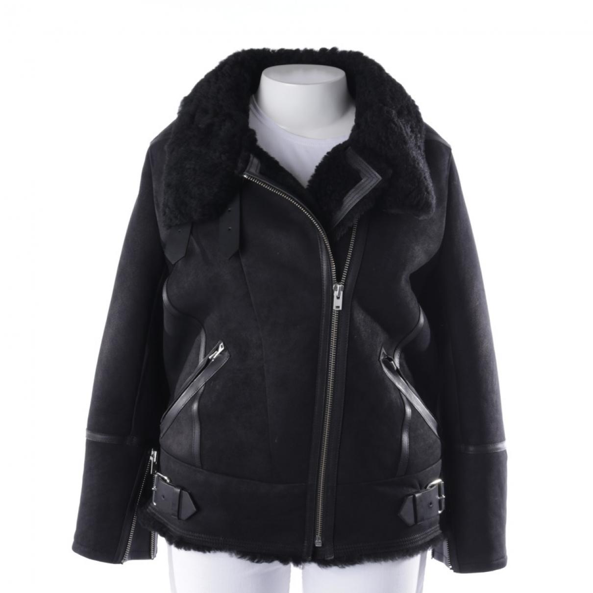 Iro \N Black Leather jacket for Women 36 FR