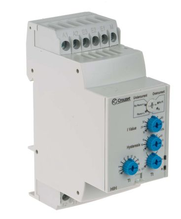 Crouzet Current Monitoring Relay With DPDT Contacts, 24 → 240 V ac/dc Supply Voltage, 3 Phase
