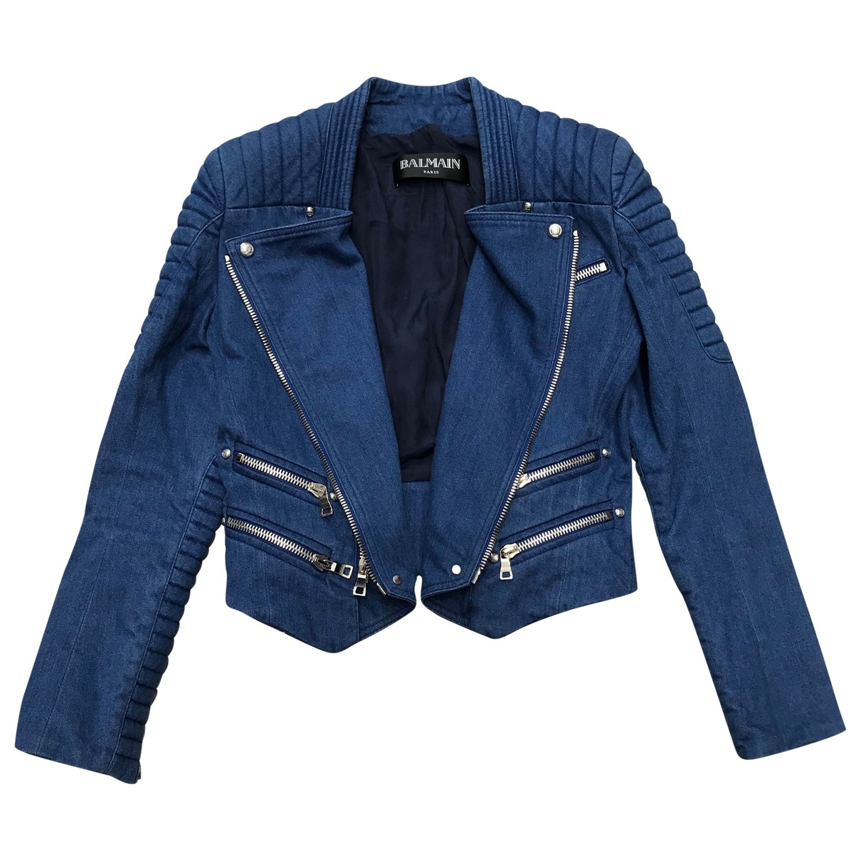 Balmain \N Blue Cotton jacket for Women 38 IT