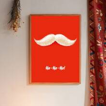 Christmas Beard Print Wall Painting Without Frame