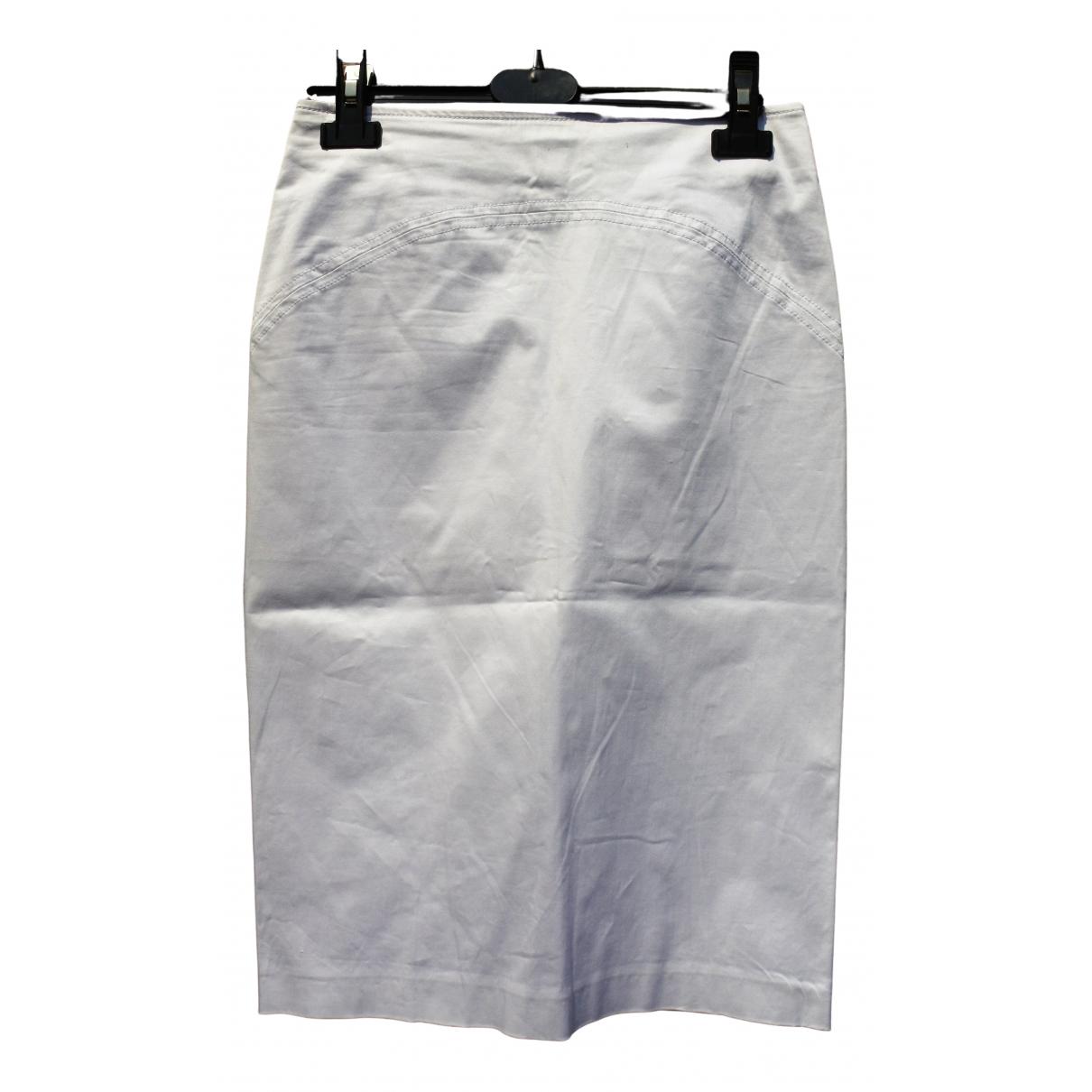 Mcq \N White Cotton skirt for Women 40 IT