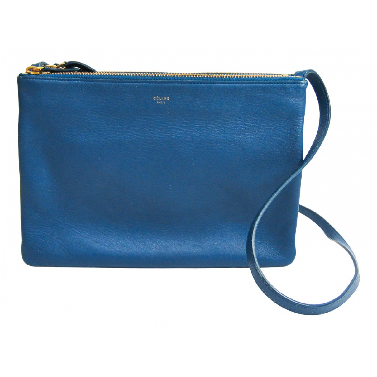 Celine Trio Handtasche in  Blau Leder