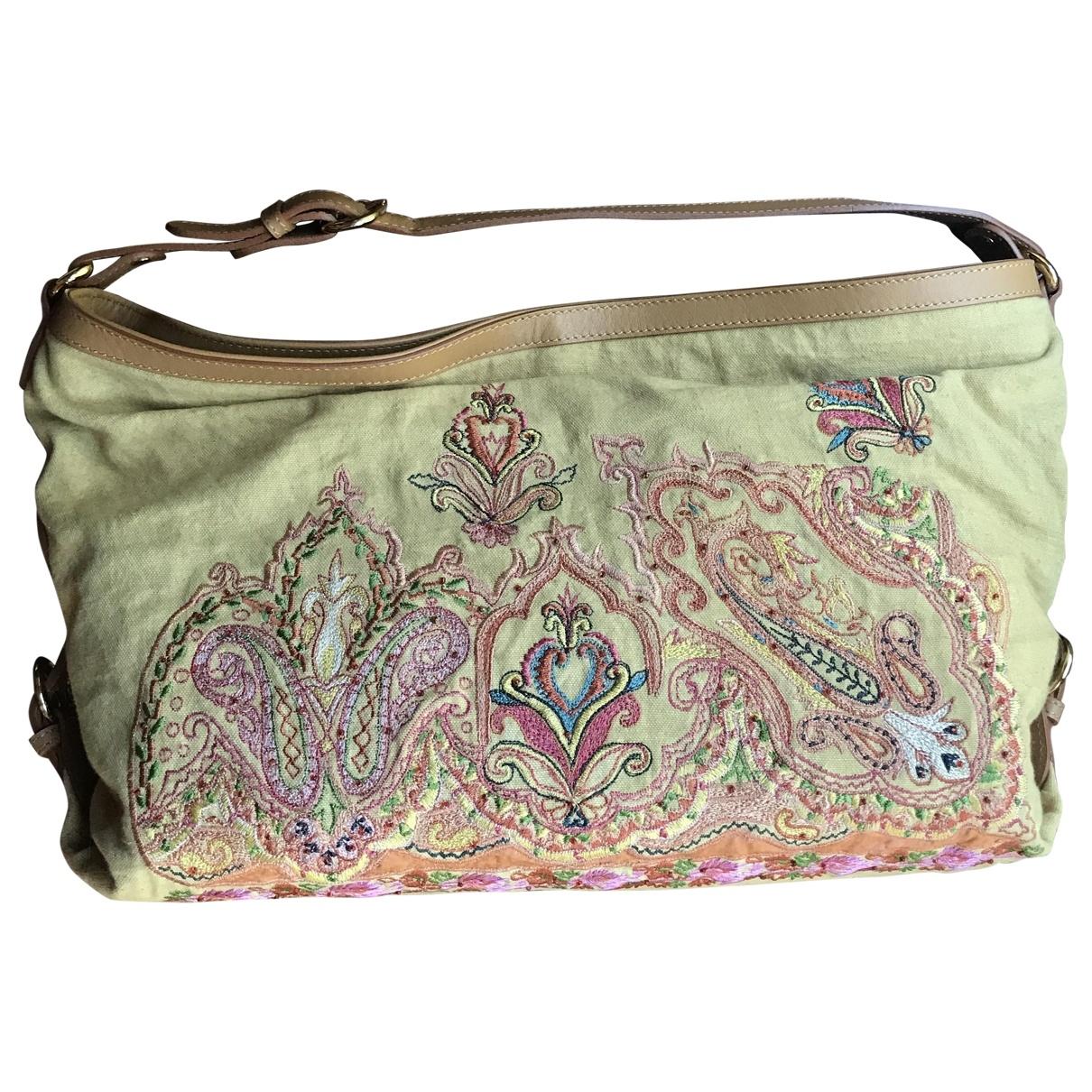 Etro \N Handtasche in  Beige Leder