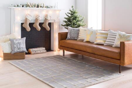 AWRS2141-35 3' x 5' Rug  in Light Gray and
