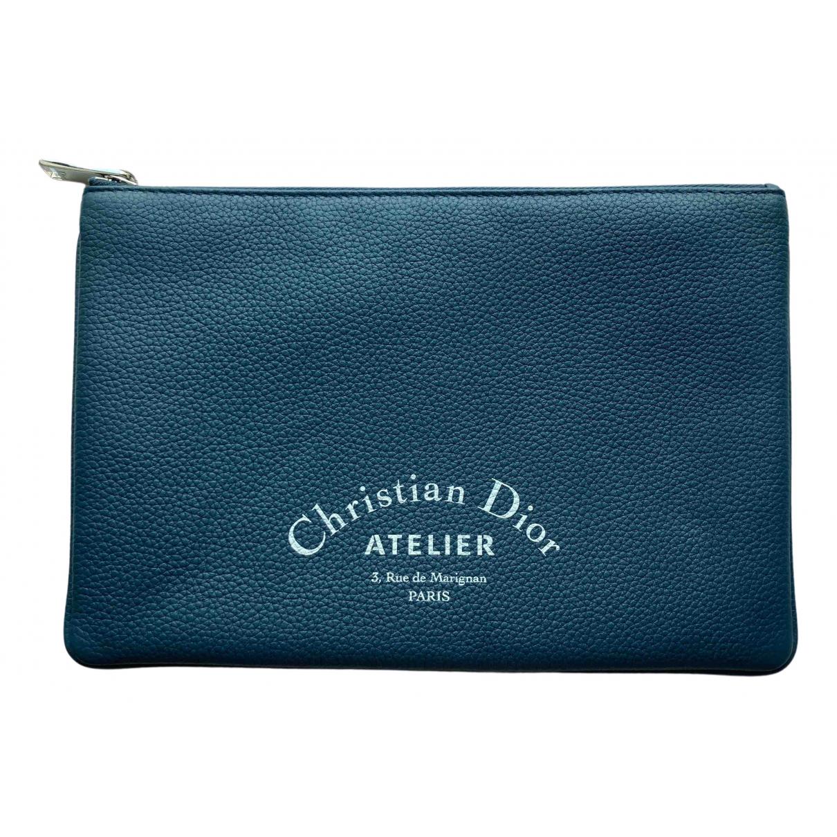 Christian Dior \N Kleinlederwaren in  Blau Leder