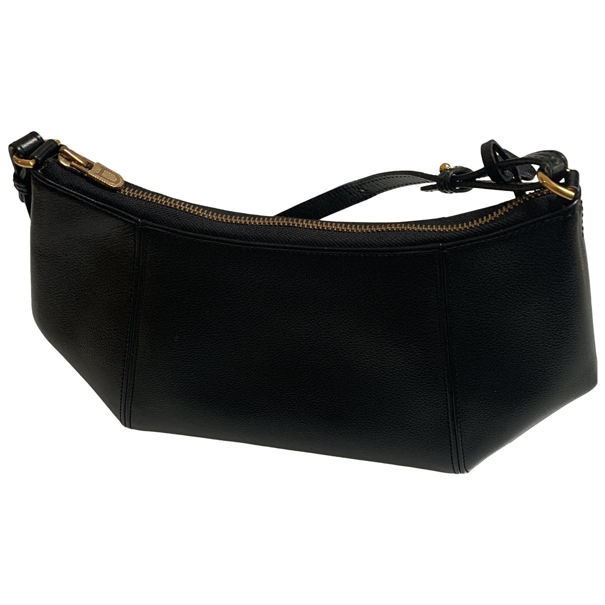 Delvaux - Sac a main   pour femme en cuir - noir