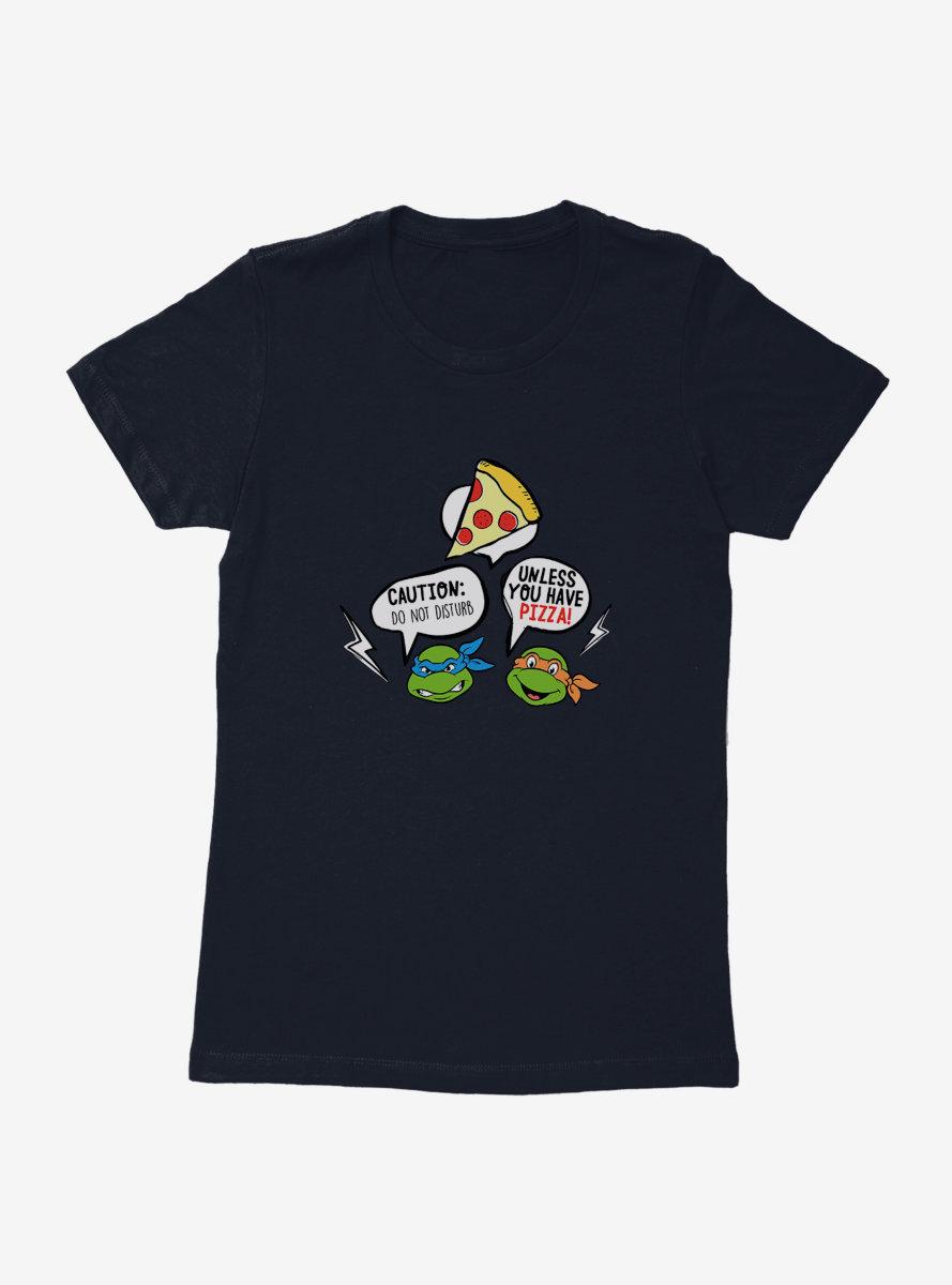 Teenage Mutant Ninja Turtles Pizza Talk Womens T-Shirt