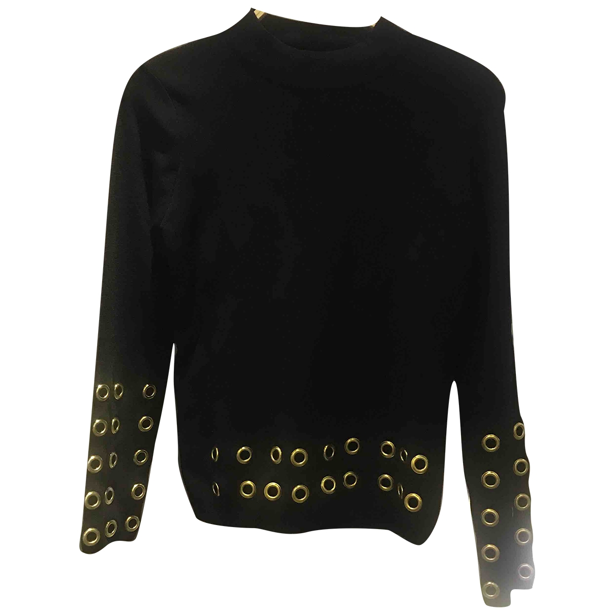 Non Signe / Unsigned \N Pullover in  Schwarz Polyester