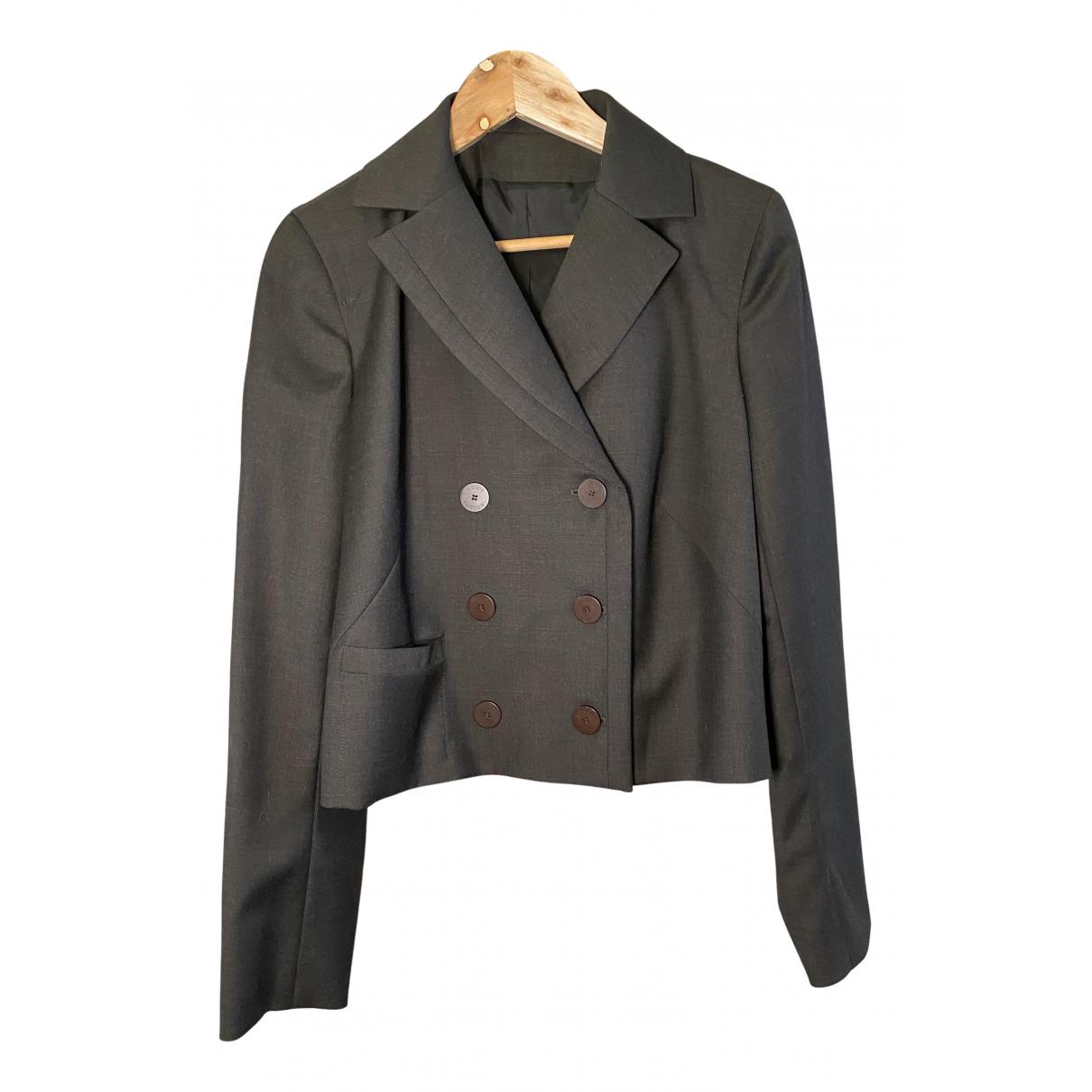 Louis Vuitton \N Jacke in  Grau Wolle