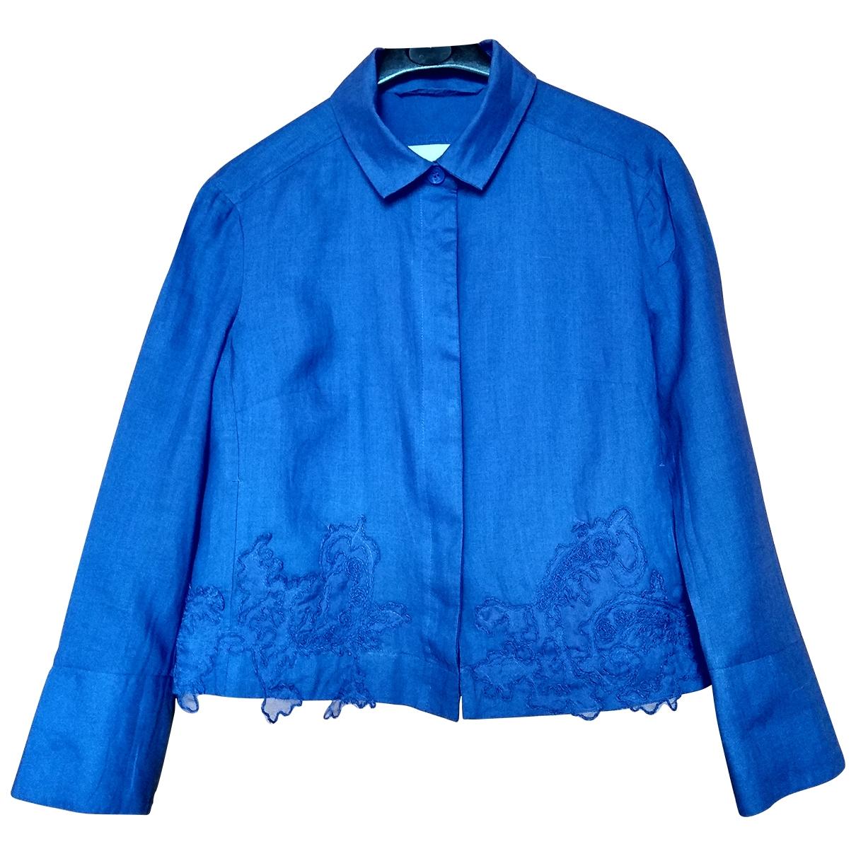 Ermanno Scervino - Veste   pour femme en lin - bleu