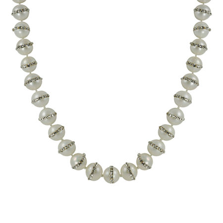 Cultured Freshwater Pearl & Crystal Accent Necklace, One Size , No Color Family