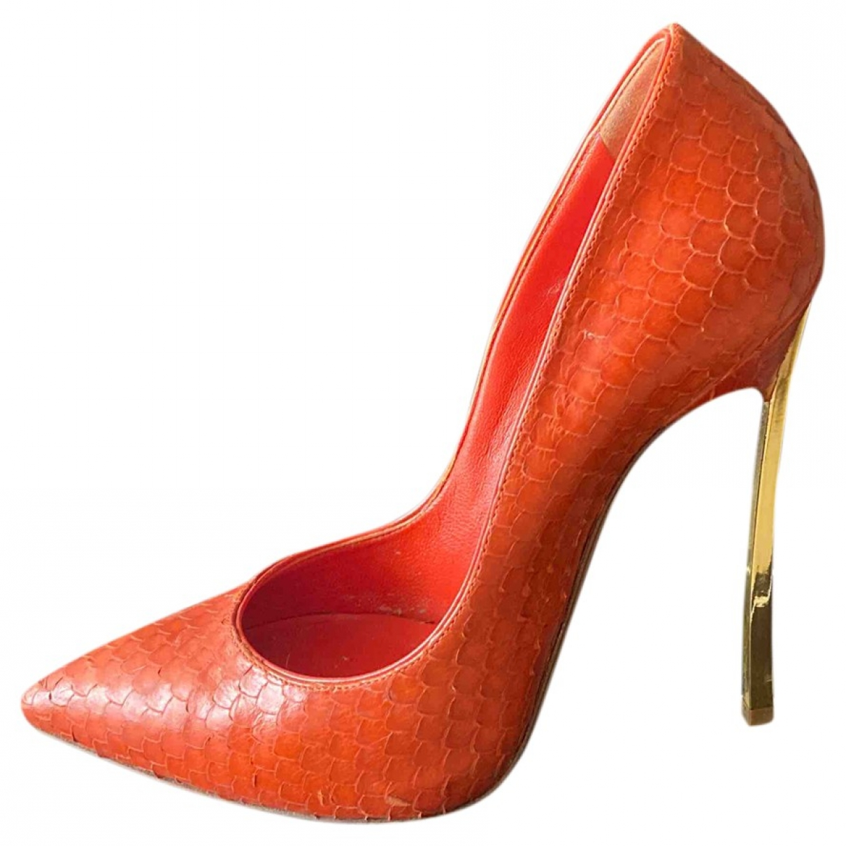 Casadei \N Red Leather Heels for Women 36 EU
