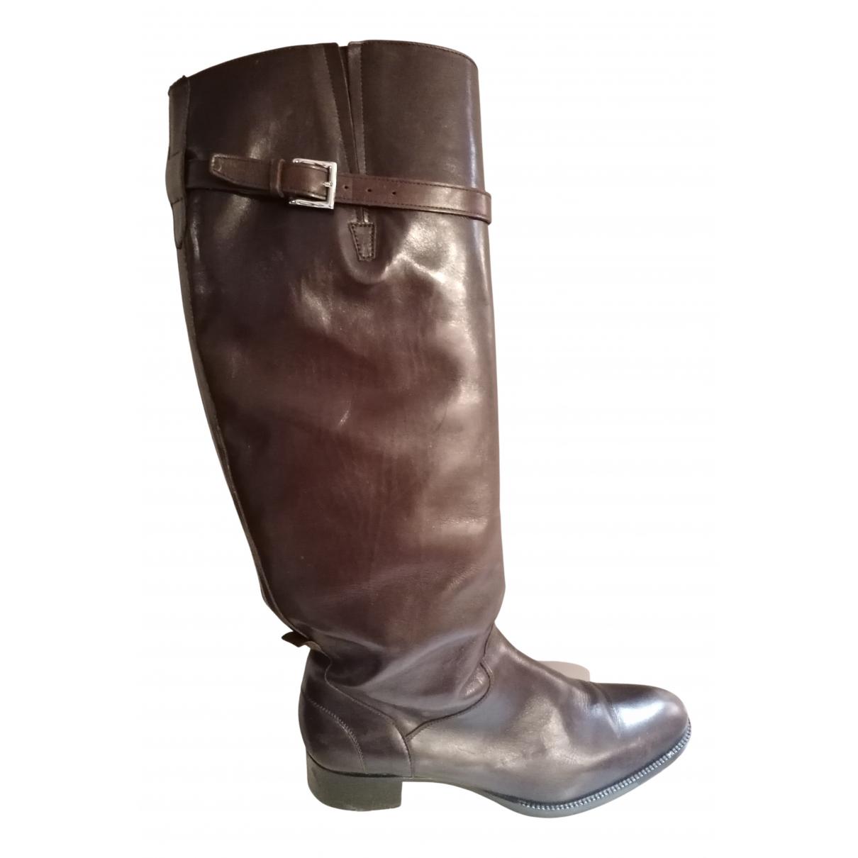 Heschung - Bottes   pour femme en cuir - noir