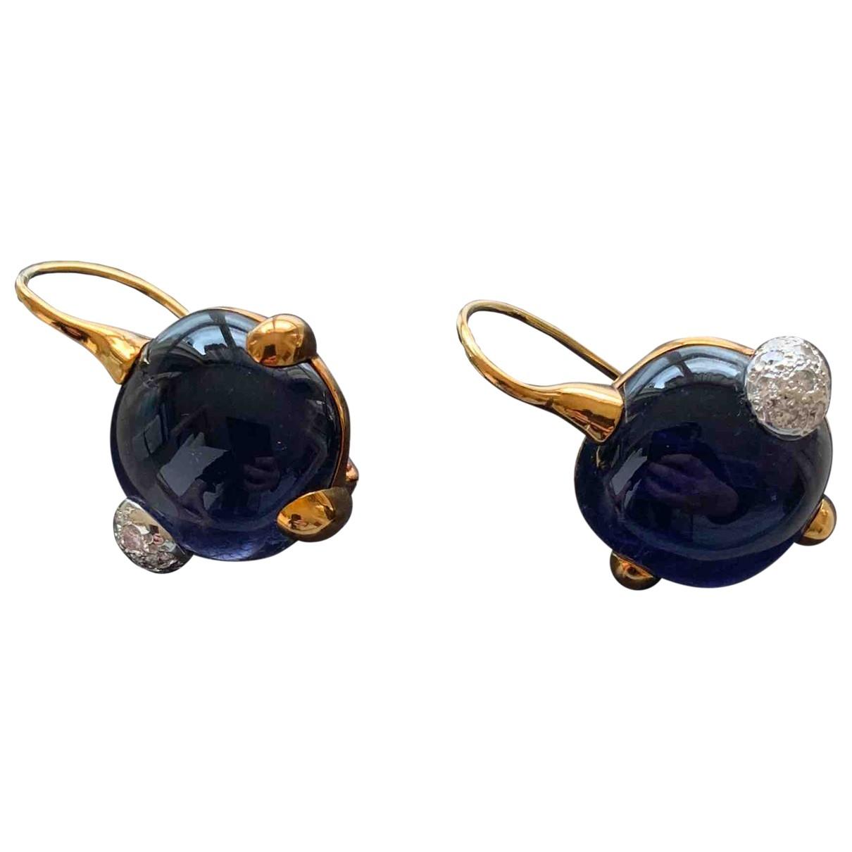 Pomellato - Boucles doreilles   pour femme en or jaune - bleu