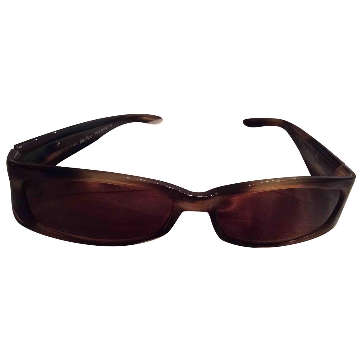 Max Mara \N Sonnenbrillen in  Braun Kunststoff