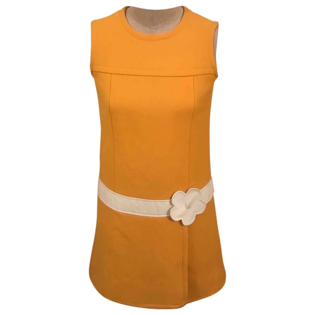 Non Signé / Unsigned \N Orange Wool dress for Women S International