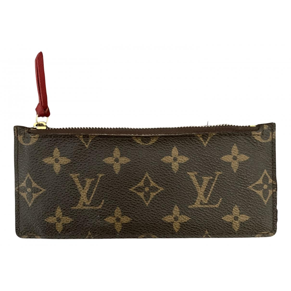 Louis Vuitton - Petite maroquinerie Adele pour femme en toile - marron