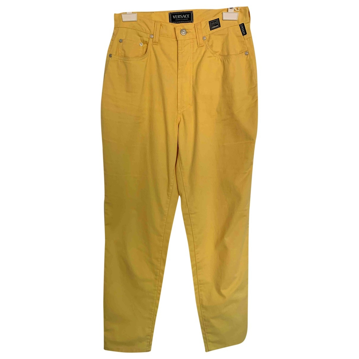 Versace Jean - Jean   pour femme en coton - jaune