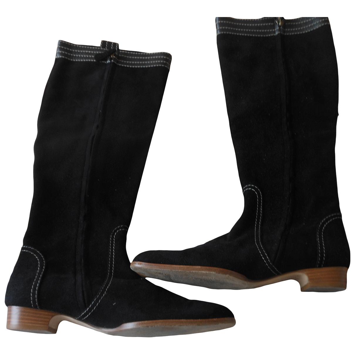 Loewe - Bottes   pour femme en cuir - marron