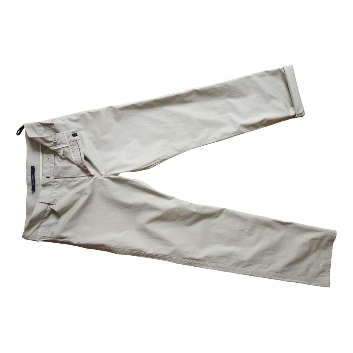 Sofie D'hoore \N Beige Cotton Trousers for Women 38 FR