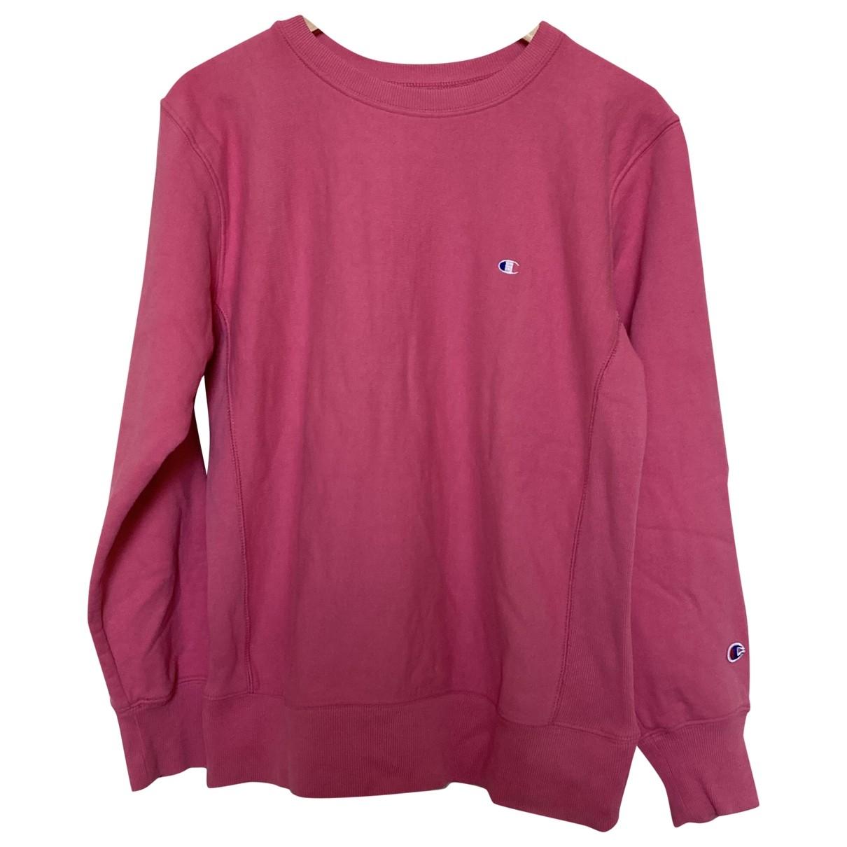 Champion \N Pink Cotton Knitwear & Sweatshirts for Men L International
