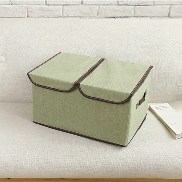 Large Double Cover Clothes Separate Storage Box Toy Storage Case Underwear Container